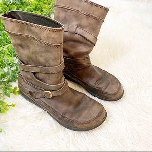 Dansko Genuine Leather Mid Calf Boots